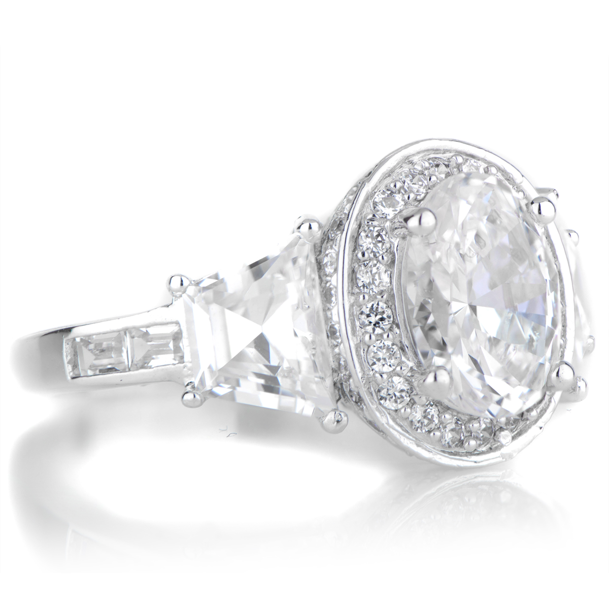 Lula's Oval Cut 3 Stone Engagement Ring