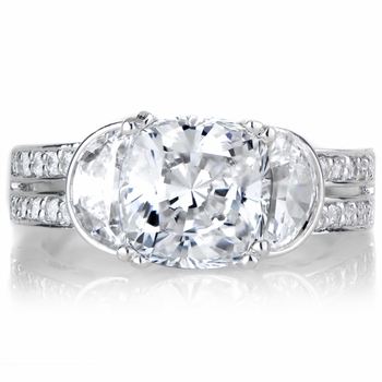Macyn's 2.5ct CZ Cushion Cut Engagement Ring