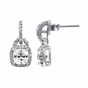 Maia's CZ Cushion Cut Dangle Earrings