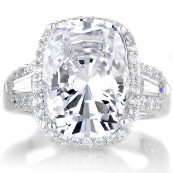 Maita's 5.5 ct Cushion Cut CZ Engagement Ring