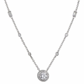 Maiulo's 2.5 CT Clear Solitaire Necklace
