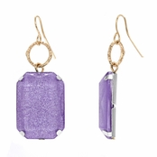 Mandee's Lilac Square Shimmer Dangle Earrings
