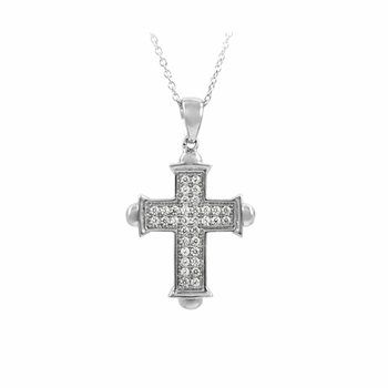 Marcella's CZ Cross Necklace