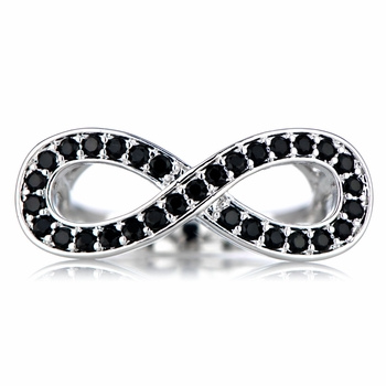 Maria's Black CZ Infinity Ring