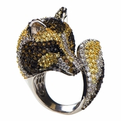 Marilee's Silvertone Fox Cocktail Ring