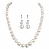 Martha's Freshwater Cultured Pearl Necklace and Earrings Set
