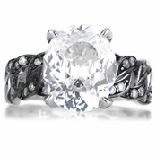 Mason's Oval CZ Cut Estate Ring