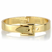 Miranda's Goldtone Buckle Bangle Bracelet