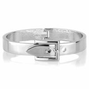 Miranda's Silvertone Buckle Bangle Bracelet