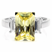 Montbeliard Canary Cocktail Ring - 5 TCW