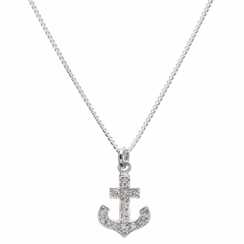 "Morgan's ""Sex and the City"" Comparable CZ Anchor Necklace"