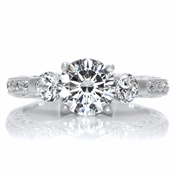 Nadia's Vintage 2.56 TCW CZ Three Stone Ring