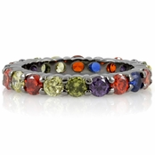 Nancy's Stackable Eternity Band Ring - Multi-Color CZ