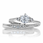 Natalia's Petite CZ Wedding Ring Set