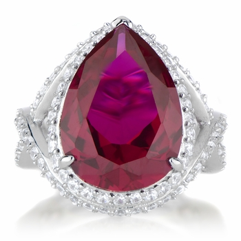 Natalie's Red CZ Cocktail Ring
