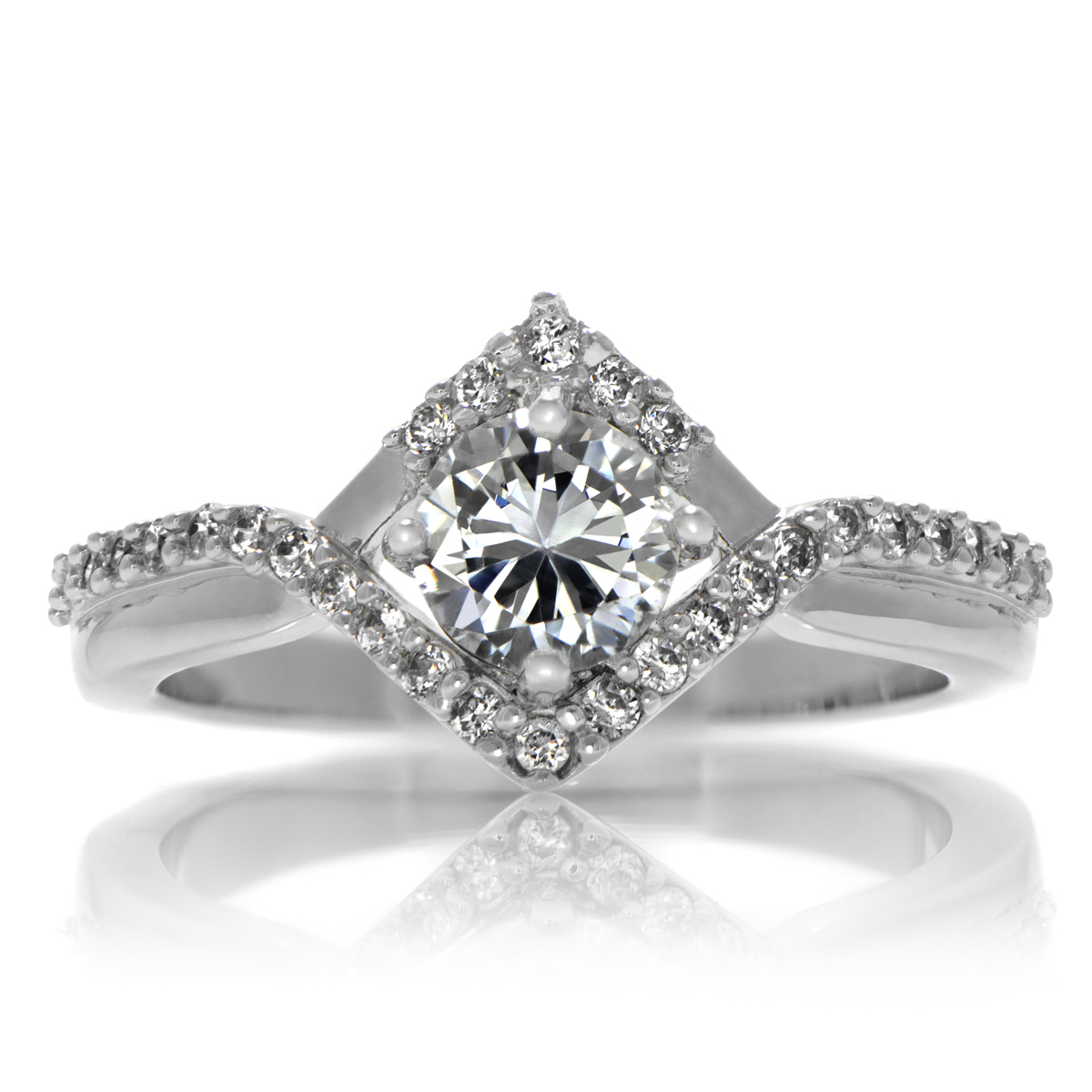 Natalie's Round Cut Vintage Style Engagement Ring  05 Carats