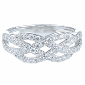 Natty's Criss Cross Knotted CZ Band