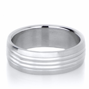 Nick's Plain Stainless Steel Engravable Men's Ring