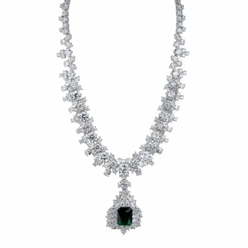 Night at the Oscars Green CZ Necklace