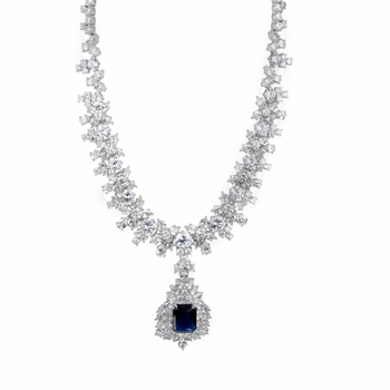 Night at the Oscars Blue CZ Necklace
