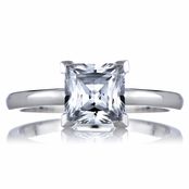 Nikki's 1.25 CT Princess Cut CZ Engagement Ring