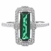 Nora's Green Baguette Cut Engagement Ring