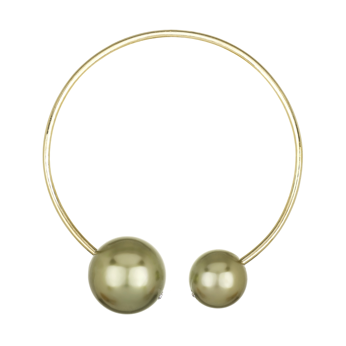 Nyoka's Designer Style Double Goldtone Imitation Pearl Collar Necklace  Roll Off Image To Close Zoom Window