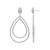 Oliva's Fancy Double Pear Drop CZ Dangle Earrings