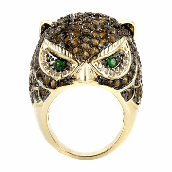 Oliver's Goldtone Owl Cocktail Ring