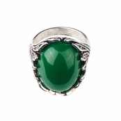Olivia's Antique Green Oval Cocktail Ring