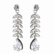 Janine's Pear Drop CZ Earrings
