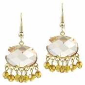 Misty's Fancy CZ Earrings - Champagne