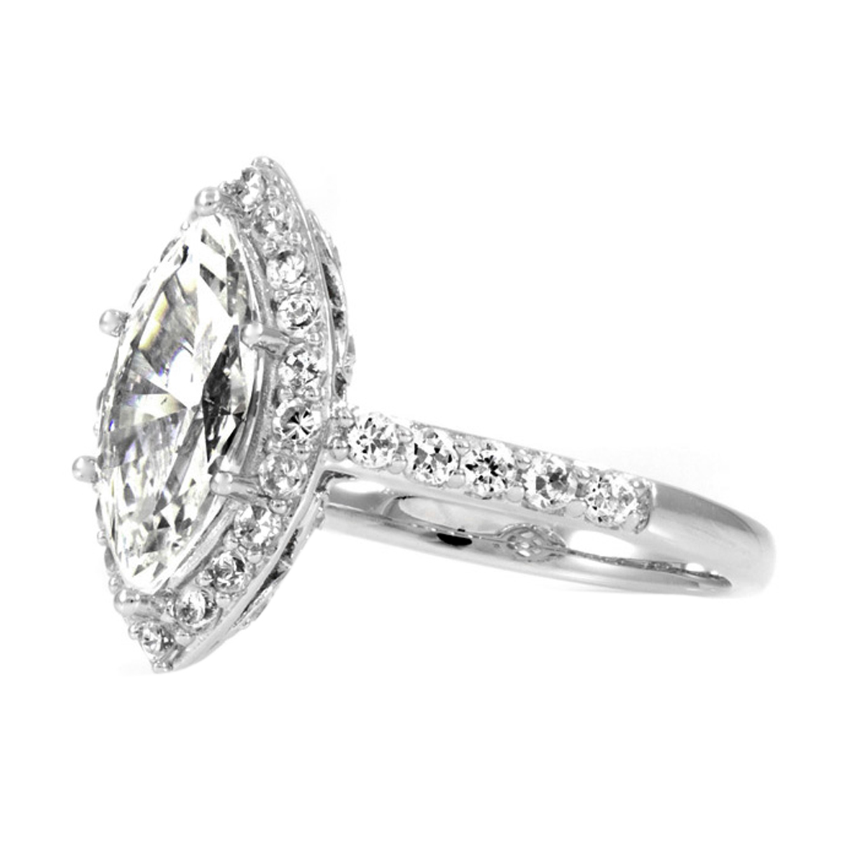 engagement ring - marquise cut cz