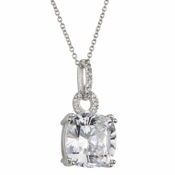 Paisley's 5 ct CZ Pendant Necklace - Cushion Cut