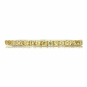Patsy's Two Tone and Canary CZ Ring Band