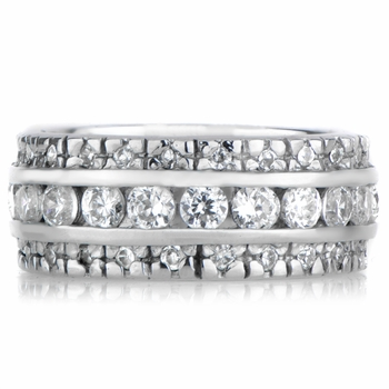 Paulina's Triple Row CZ Eternity Ring
