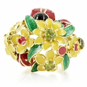 Posie's Flower & Ladybug Cocktail Ring