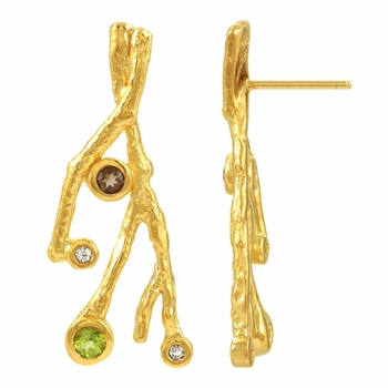 Premiere Collection: Sophia's Fancy Earrings - Imitation Stones