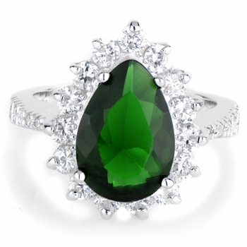 Proserpina's Green CZ Right Hand Ring