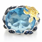 Raine's Aqua CZ Cocktail Ring