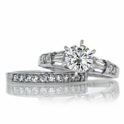 Raj's Cubic Zirconia Wedding Ring Set