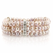 Regina's Freshwater Cultured Pearl Bracelet - Purple