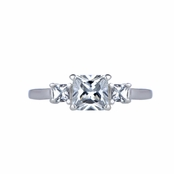 Riley's Princess Cut CZ Size 4 Ring