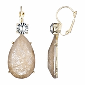 Rina's Fancy Pear Drop Earrings - Goldtone