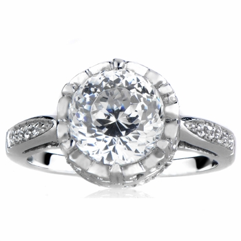 Risa's Crown Setting CZ Ring