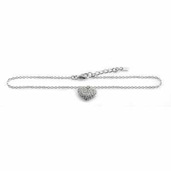 Rissa's Pave CZ Heart Anklet