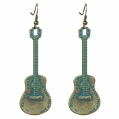 Rocker Guitar Dangle Earrings