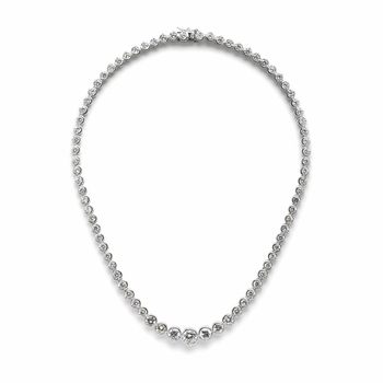 Rosalia's Graduated CZ Tennis Necklace - 16 inches