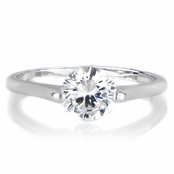 Rosemarie's 1.25 CT Round Cut CZ Engagement Ring