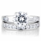 Ruchita's Classic CZ Wedding Ring Set